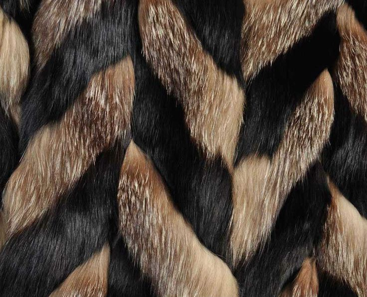 Chevron fox fur technique by Christian Dior in 1980