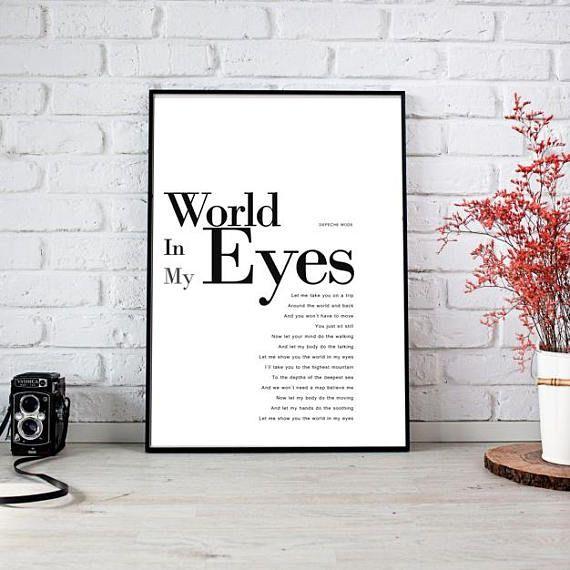 Ehi, ho trovato questa fantastica inserzione di Etsy su https://www.etsy.com/it/listing/555322823/world-in-my-eyes-poster-instant-download