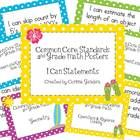These are a set of Second Grade Common Core Posters for Math.  They are similar to my Tropical Language Arts Posters.  I made the backgrounds sligh...