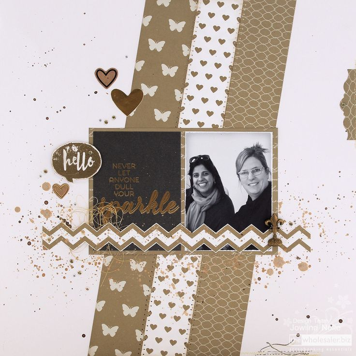 In August we are celebrating women a time to celebrate real friendships. I created a Lady Pattern Paper Egyptian Gold layout to match those golden…