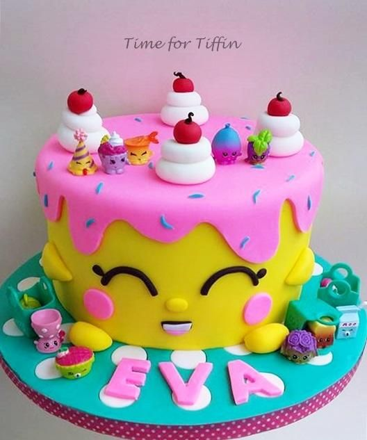 Shopkins - Cake By Time For Tiffin - CakesDecor