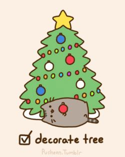 pusheen christmas checklist