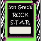 5th Grade Rock Star Binder-Folder Covers with Zebra Print