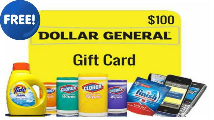 Get a 100 dollar general gift card amazon gift card