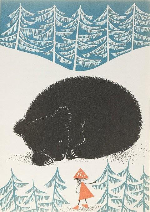 Vintage Polish children's book illustration.