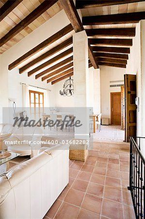 Stock photo of Interior of House, Majorca, Spain; Premium Royalty-Free, 600-03682282 © Norbert Schäfer / Masterfile. All rights reserved.