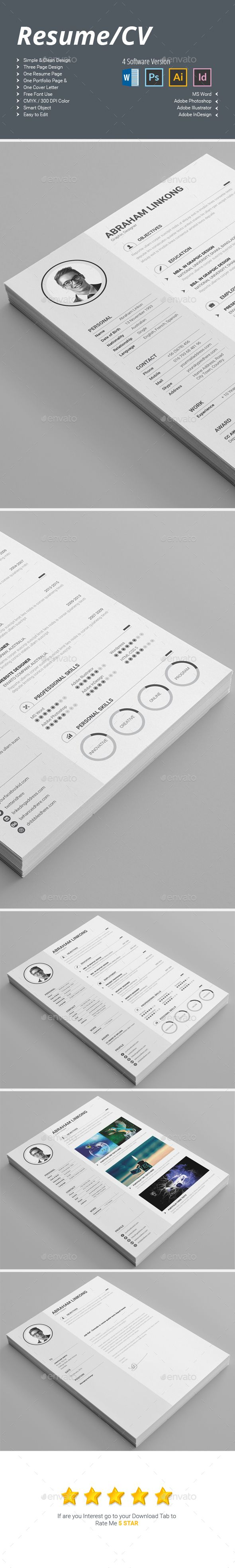 best ideas about cv template cv resume cv template here graphicriver net