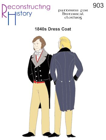 Reconstructing History Pattern #RH903 - 1840s Men's Dress Coat - 19th Century Tail Coat If only...