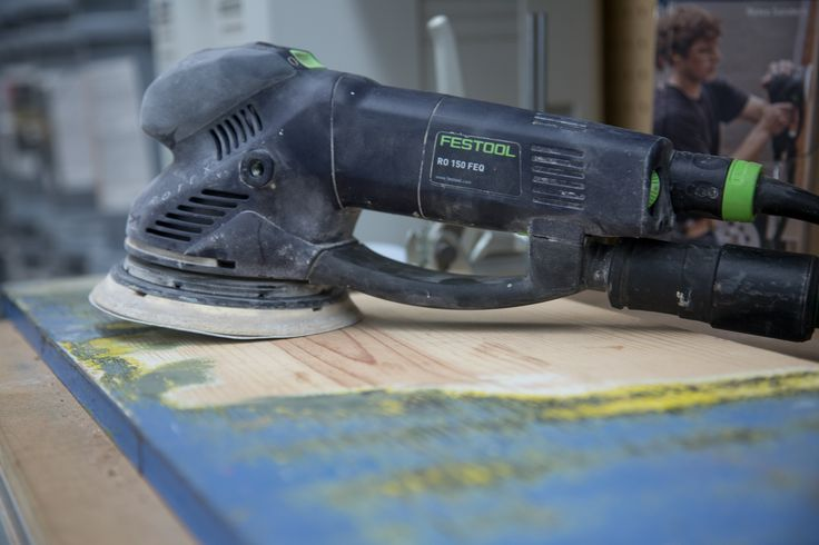 Festool sander in action :: Devine Paint Center, Inc. :: #Festool #PaintTools #paint #homedecor