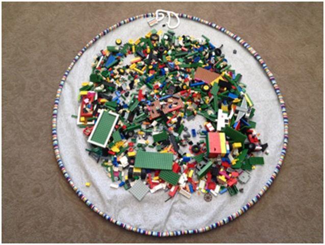 drawstring Lego play mat tutorial!