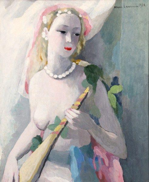 Jeune fille au collier de perles et au turban, 1938, Marie Laurencin