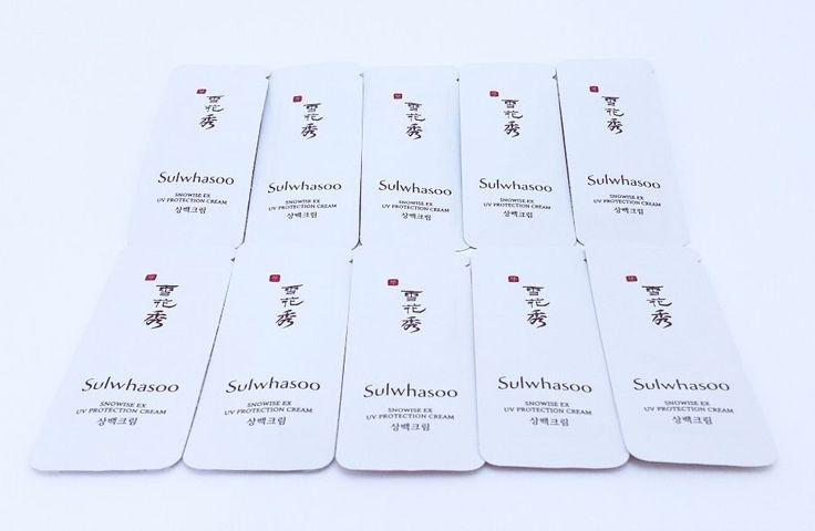 Sulwhasoo Snowise EX UV Protection Cream Samples 10P #Sulwhasoo