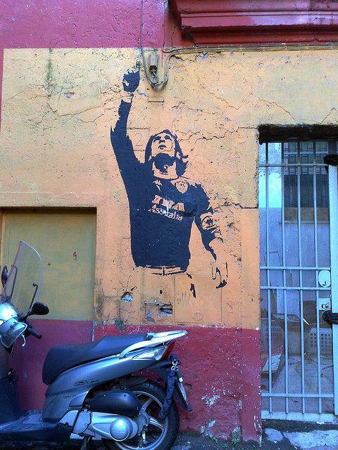 wall art..:..Francesco Totti:)   via flickr