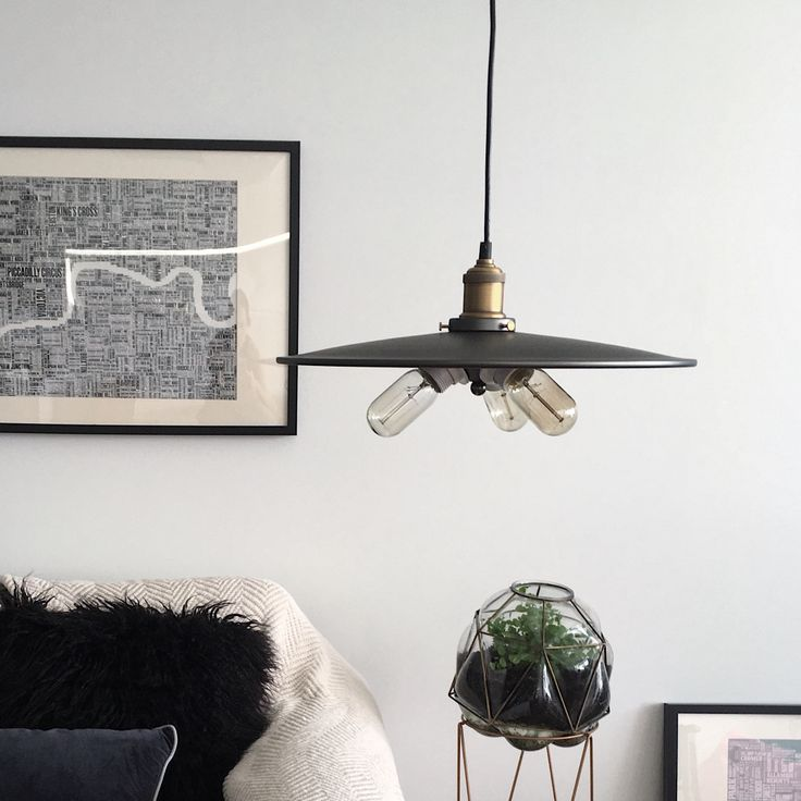 CLAUDIA Industrial Pendant Light. Brass and matte silver grey finish with 3 edison bulbs.  Australia's leading independent lighting specialist for industrial, modern and Scandivian style pendants.  Affordable, industrial style pendant lighting for your home, delivered Australia-wide. Lighting from $69. Shop now.