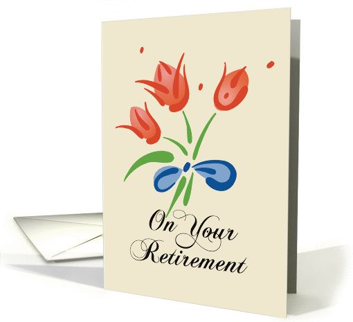 Retirement Congratulations with Red Flowers card