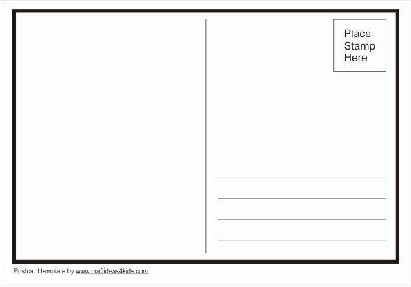 Blank Postcard Template Inspirational