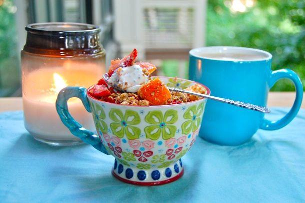 Breakfast tastes better in a pretty mug!Taste Better, American Eggs, Eggs Boards, Healthy Eating, Women Health, Pattern Inspiration, Breakfast Taste, Bananas Bout, Bout Breakfast