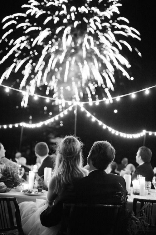 Nearly bonfire night - can't beat sparkly fireworks on your big day (apart from sparkly rings, of course).