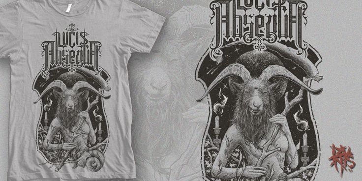 """""""Lucis Absentia - Goat"""" t-shirt design by RectopusArt"""