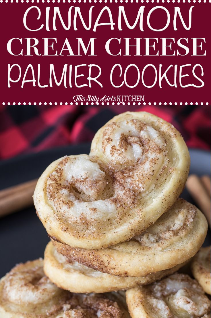 Cinnamon Cream Cheese Palmier Cookies | Posted By: DebbieNet.com