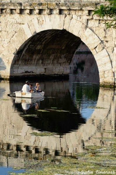Tiberius Bridge in Rimini I think paddling under bridges is so romantic