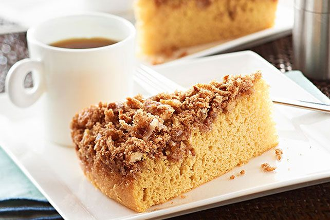 There's cake you have with coffee. And then there's this moist, cinnamon-crusted coffee cake, made with coffee, coconut and walnuts.