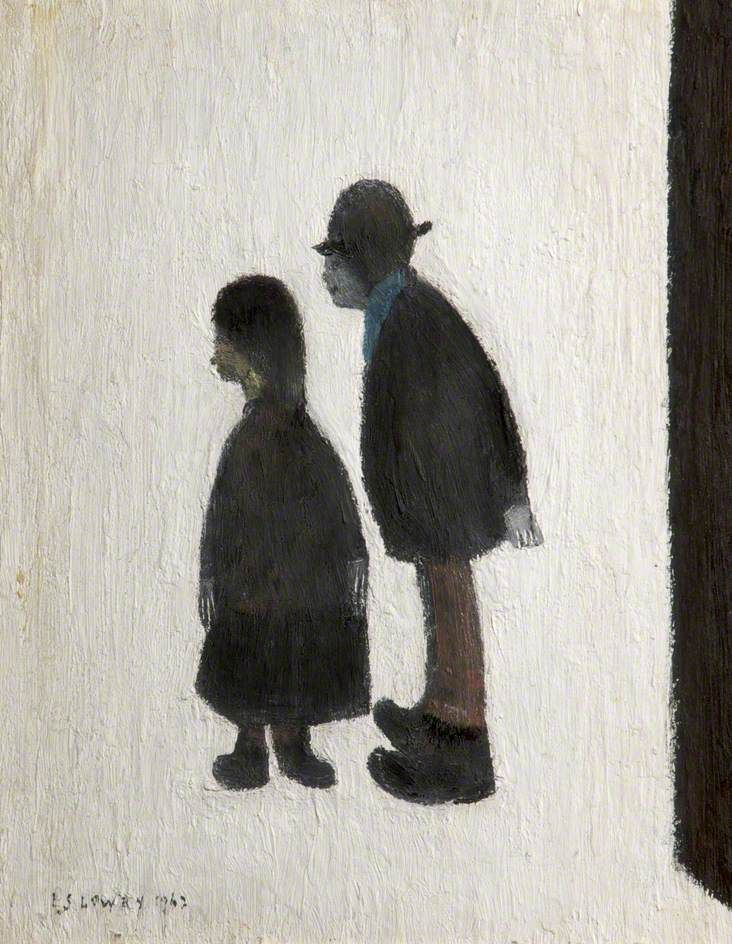 Two People, United Kingdom, 1962, by L. S. Lowry. | L.S. Lowry | Pinterest | Art, Art prints and Artist