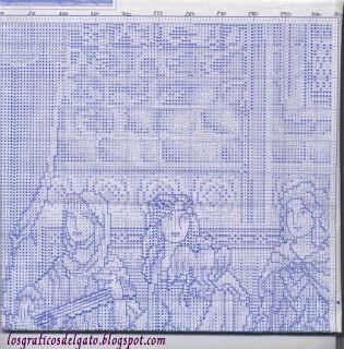 Bonito gráfico de una escena con reyes medievales...