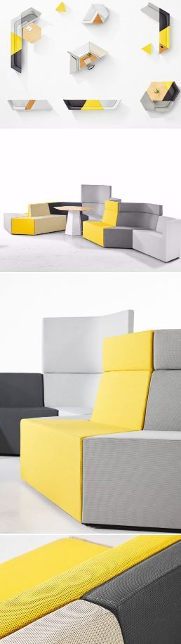 Prisma by Derlot Editions was developed to answer the increasing need for adaptable furniture in contemporary #workplace and hospitality environments