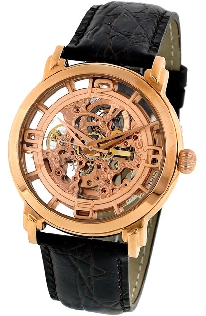 Skeleton Rose Goldtone Watch: Skeletons Roses, Roses Goldton, Gold Ton Watches, Men'S Watches, Online Watches, Watches Shops, Winchester Skeletons, Goldton Watches
