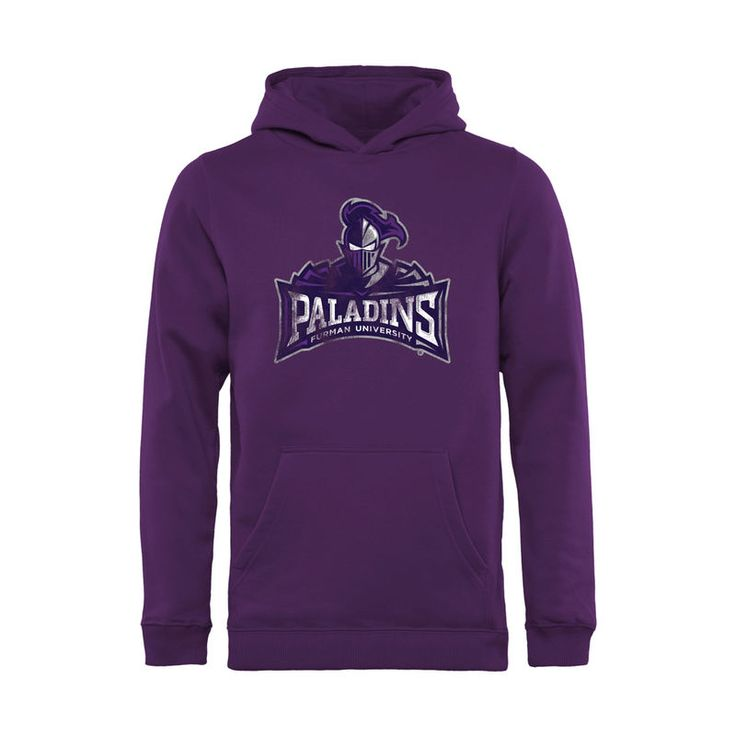 Furman Paladins Youth Classic Primary Pullover Hoodie - Purple