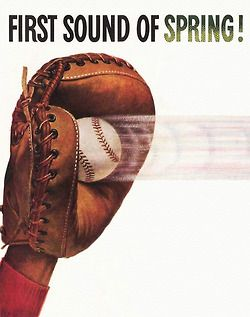 BASEBALL~First Sound of Spring! Can't wait for pitchers and catchers.
