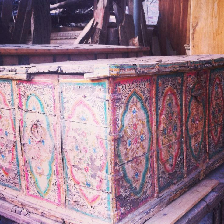 Wonderfully decorated wooden box.