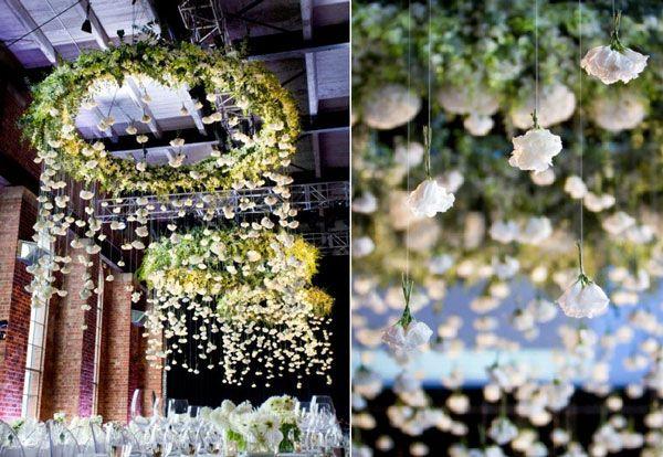 decoration-plafond-mariage-fleurs