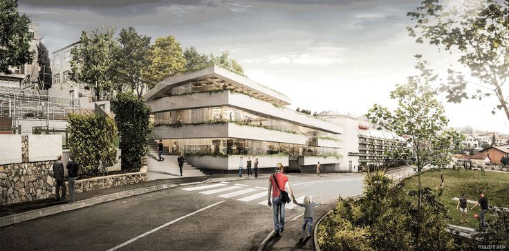 Arhitektura Krušec . Multimedia Center . Matulji  (1)