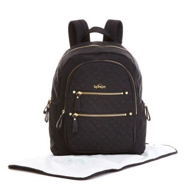 Carina Baby Backpack - Black Quilting Mix