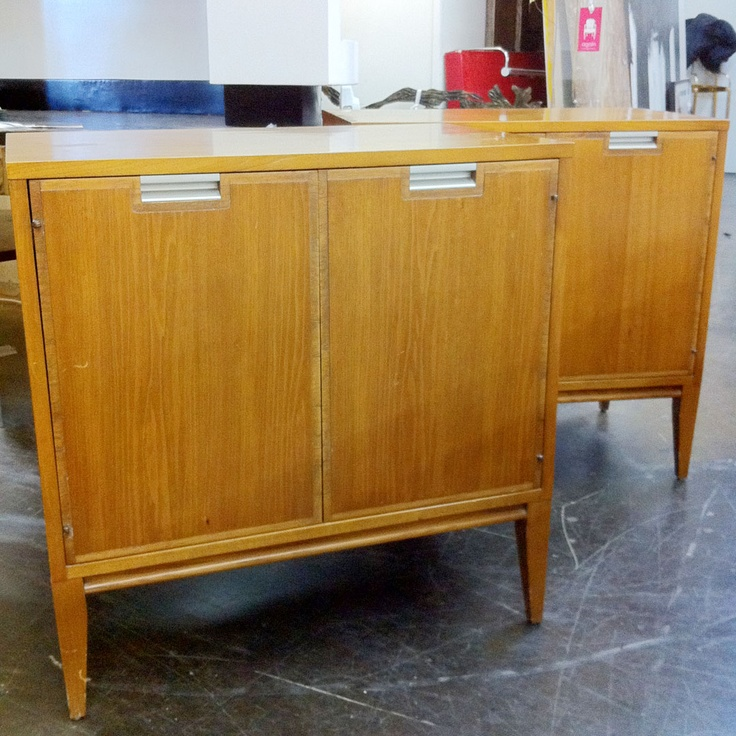 #4584 Pair Mid Century Bedside Cabinets  – $1050