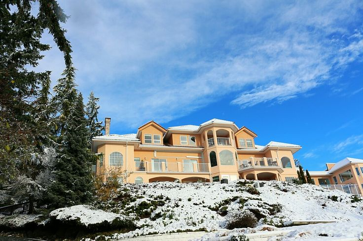 Villa Principale after the first snowfall of the season