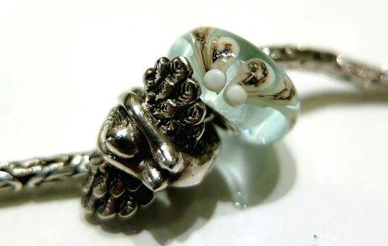Bead redbalifrog angelo caduto in argento 925 e vetro artigianale di Glass Bonbon compatibile con pandora, trollbeads, tedora ecc ecc Facebook: pianeta beads www.gold-jewels-italy.com