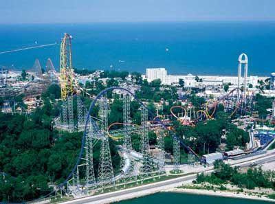 Cedar Point, Ohio.  I'm a sucker for the roller coasters.