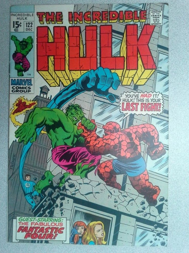 Incredible Hulk #122, Hulk vs Thing, 1969, Free Shipping, Final Silver Age