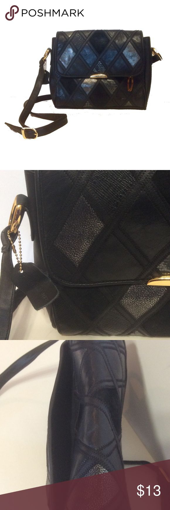 Awesome spacious crossbody bag - authentic leather Preloved in great condition, classy looking and practical, very spacious for its size, lots of compartments, great for everyday or to travel,  10 inches wide x 9 inches height x 2.5 inches wide, great as shoulder bag or as crossbody, by Cabin Creek, authentic leather Bags Crossbody Bags