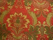 Victorian Floral Chenille Upholstery Fabric Red: S-JuliaRed Fabric and Upholstery Fabric Store for Discount Drapery Fabric, Glen Raven Sunbrella Outdoor Fabric, and Designer Fabrics by the Yard.