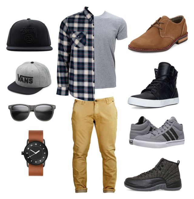 """Toma's 3rd look"" by arini-lioni on Polyvore featuring United by Blue, Supra, NIKE, adidas, Original Penguin, Stussy, Vans, ZeroUV, men's fashion and menswear"