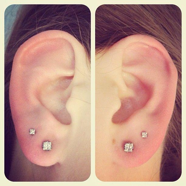Best 20 Double Ear Piercings Ideas On Pinterest