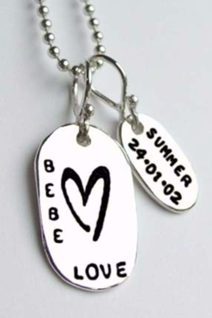Best Christmas Gifts For New Moms Part - 31: Love The Bebe Heart Charm! You Can Add Up To 4 Smaller Tags With A Childu0027s  Name And Birthdate. Perfect Gift For The Fashionista Mom!
