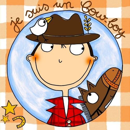 """keladeco.com - #tableau deco #enfant """"je suis un cow-boy"""", idée cadeau naissance garçon"""
