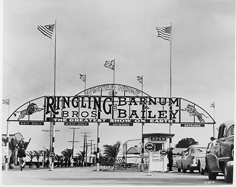 APRIL 2013: Vintage Photo of Ringling Brothers and Barnum and Bailey Circus. Photo courtesy of Sarasota County Department of Historical Resources. #sarasotamagazine