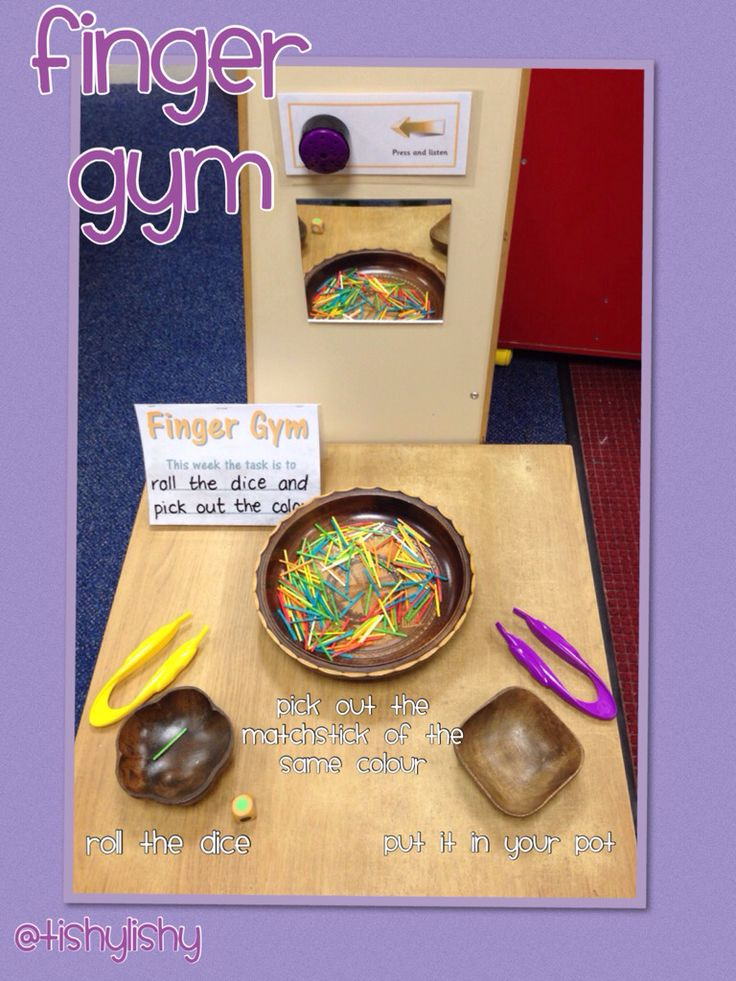 Finger Gym activity. My TA did this one!
