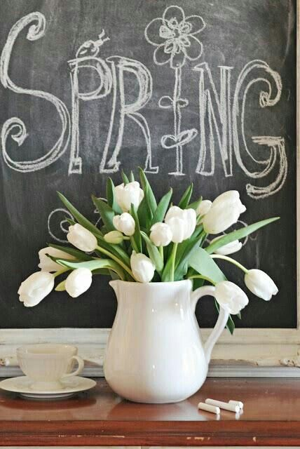Spring has Sprung | Decorate your home with tulips and other flowers to welcome the season! #decor #forthehome